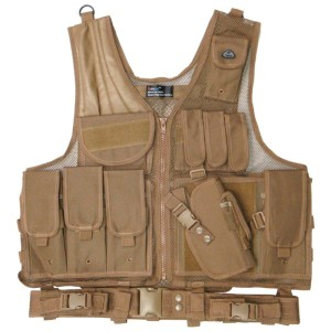 Deluxe Quick Draw Tactical Vest - Coyote