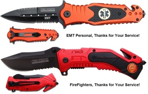 Rescue Knives - EMT Medallion & Fire Department Medalion