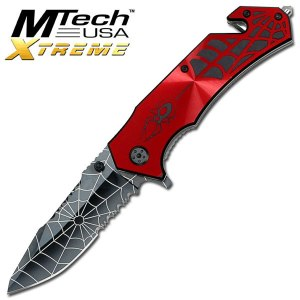 SPIDER RESCUE KNIFE - Black/Red